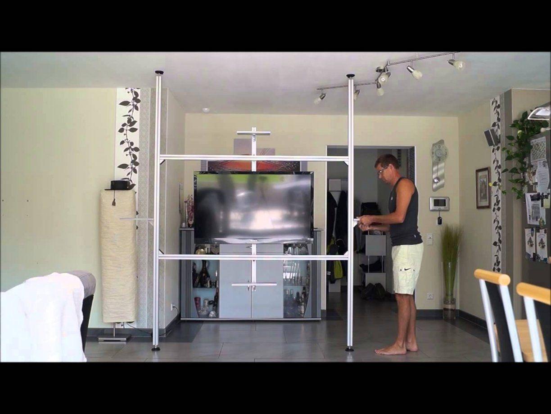 Multimedia Wand Tv Wand Raumteiler In 20 Min Aufgebaut Tv Säule von Raumteiler Wand Selber Bauen Photo