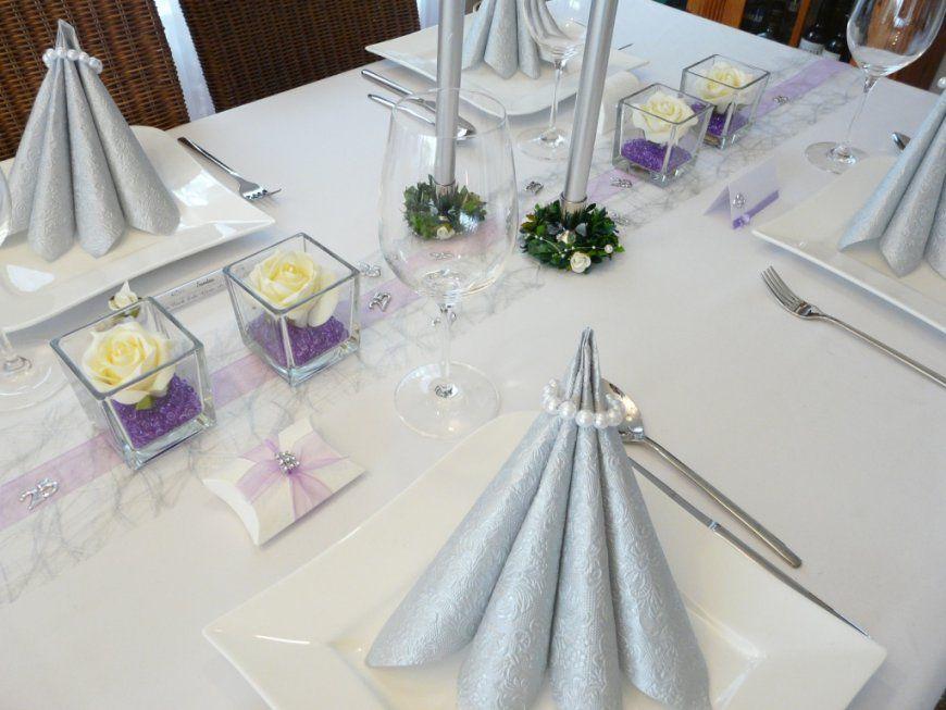 Mustertische Lila  Flieder von Tischdeko Hochzeit Lila Weiß Photo