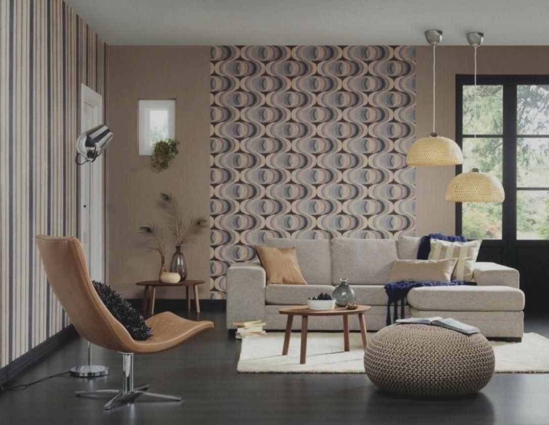 wandgestaltung mit tapeten wohnzimmer haus design ideen. Black Bedroom Furniture Sets. Home Design Ideas