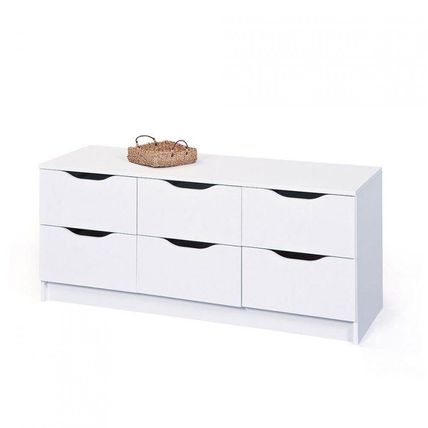 Niedrige Kommode Danjala In Weiß Mit 6 Schubladen Wohnen von Kommode Weiß Hochglanz 6 Schubladen Bild