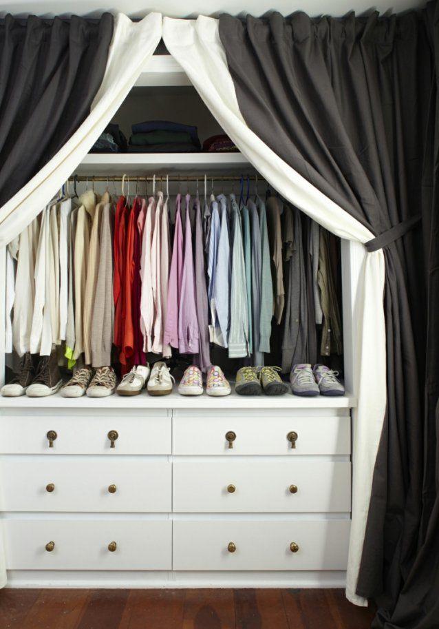 Offener Kleiderschrank Vorhang  Gispatcher von Offener Schrank Mit Vorhang Bild
