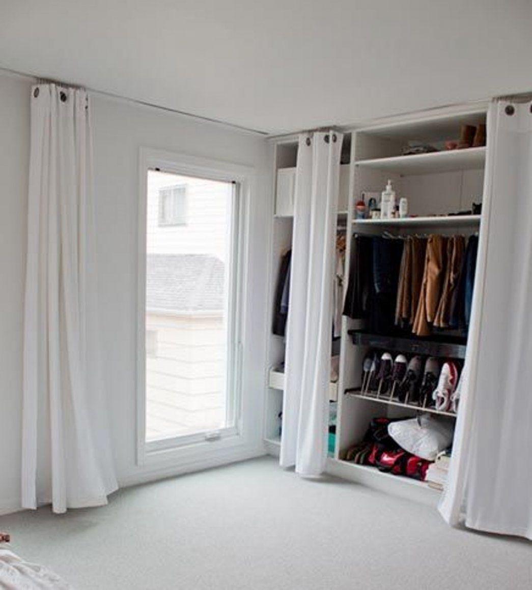 Offener Kleiderschrank Vorhang Interessant von Offener Schrank Mit Vorhang Bild