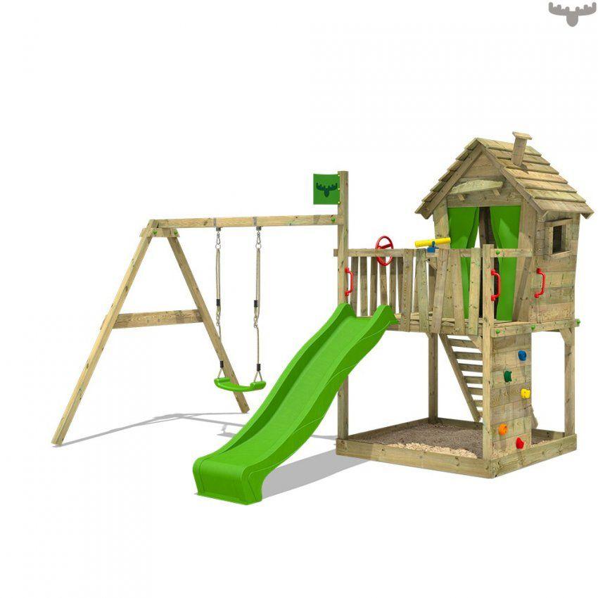 Offizieller Spielturm Und Spielgeräte Shop  Fatmooseat von Baumhaus Mit Rutsche Und Schaukel Bild