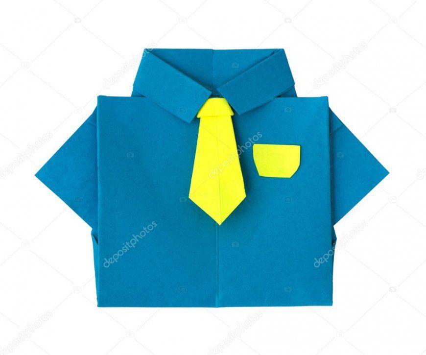 Origami Blauen Hemd Mit Krawatte — Stockfoto © Deyangeorgiev2 9092560 von Origami Hemd Mit Krawatte Bild