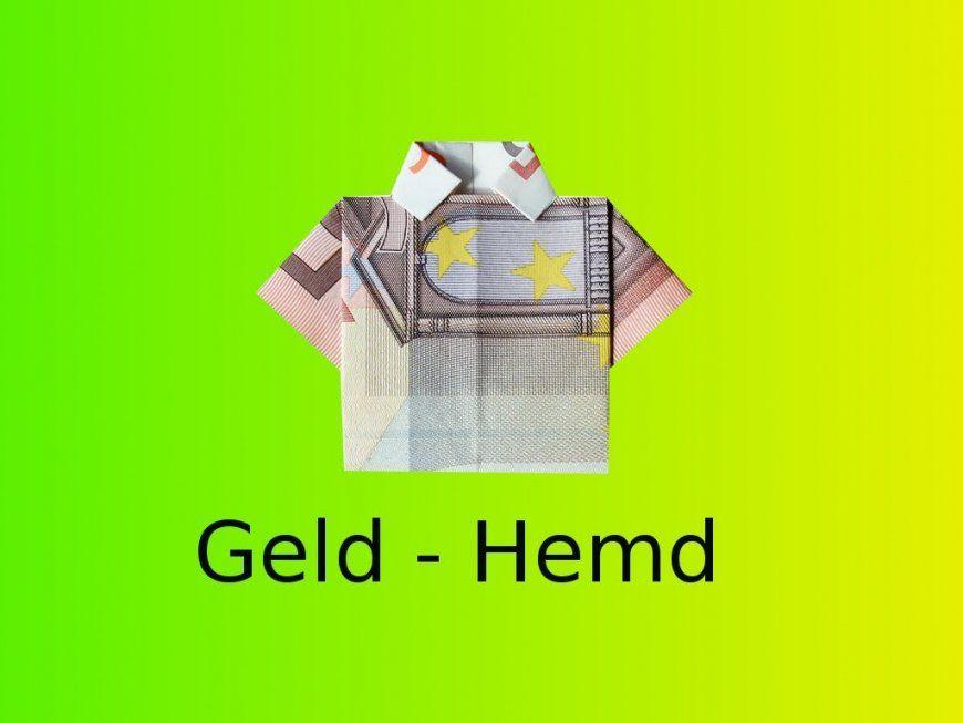 Origami Geldhemd Basteln Mit Einem Geldschein  Youtube von Geld Zum Hemd Falten Photo