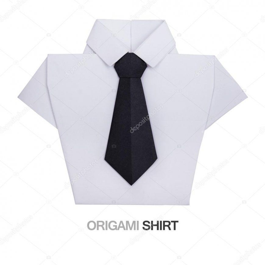 Origami Hemd Mit Krawatte — Stockfoto © Mandrixta 106521992 von Origami Hemd Mit Krawatte Photo