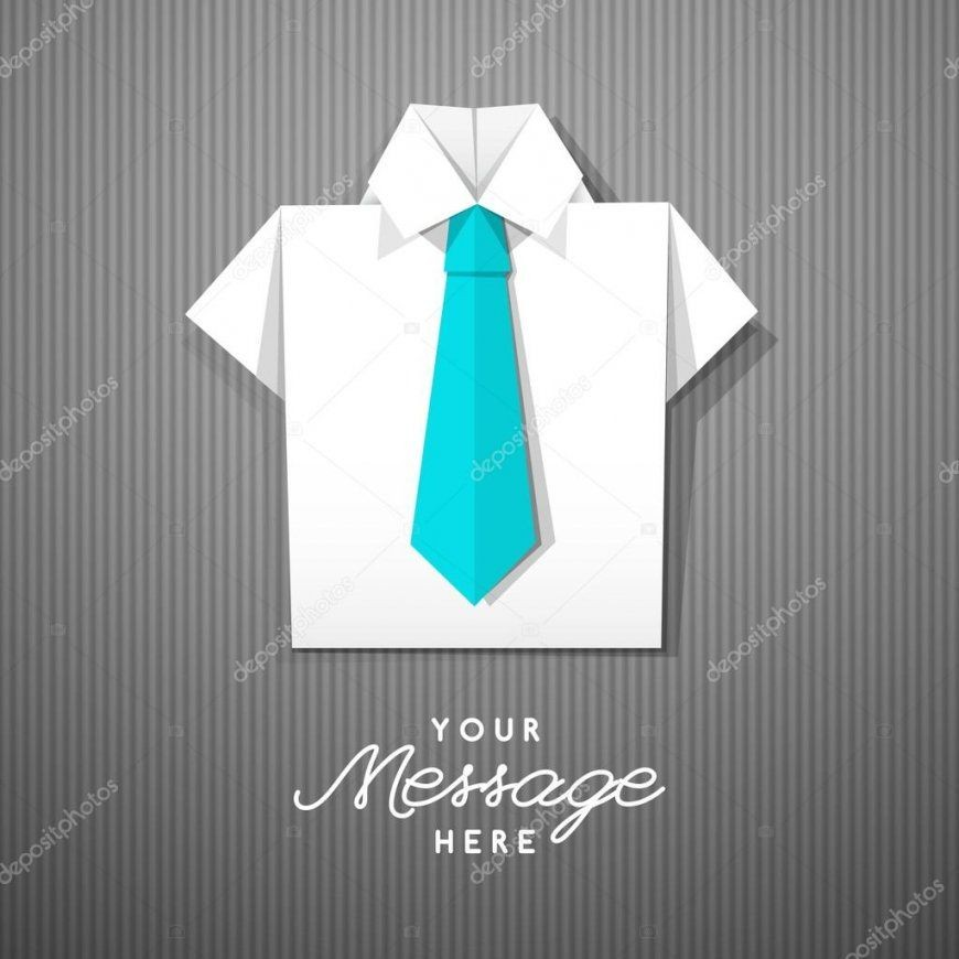 Origami Hemd Mit Krawatte — Stockvektor © Redcollegiya 113671264 von Origami Hemd Mit Krawatte Photo