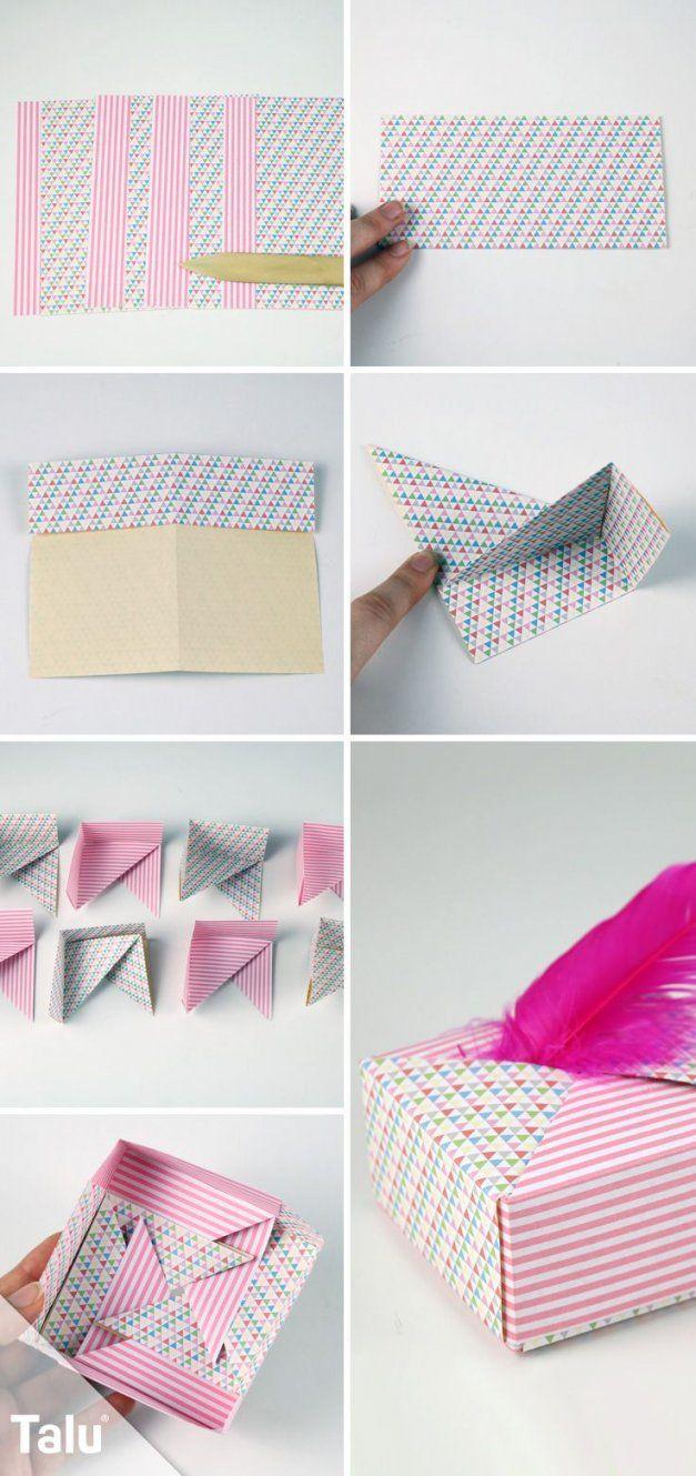 Origamischachteln Aus Papier Falten  Die Perfekte Geschenkbox von Kleine Schachteln Selber Basteln Bild