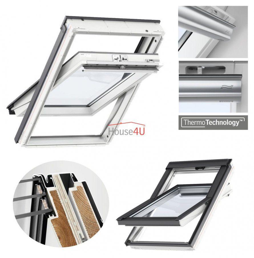 Outlet Velux Dachfenster Glu 0061 Fk08 66X140 3Fachverglasung Uw von Velux 3 Fach Verglasung Bild