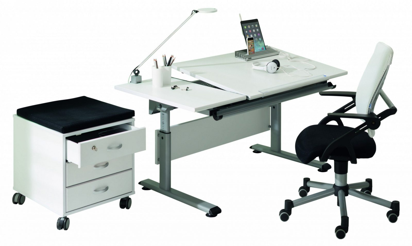 Paidi Marco 2 130 Gt Schreibtisch Weiß  Platte Geteilt  Möbel Letz von Paidi Marco 2 Gt Photo