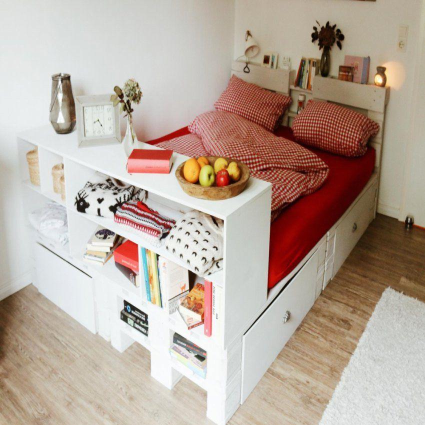Palettenbett Selber Bauen Europaletten Bett Diy Anleitung In Bett