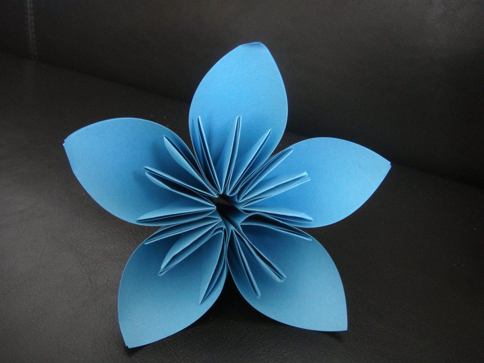 Papier Blume Falten Mit Kusuduma Blume Katnissdean 6 Und Dsc04528