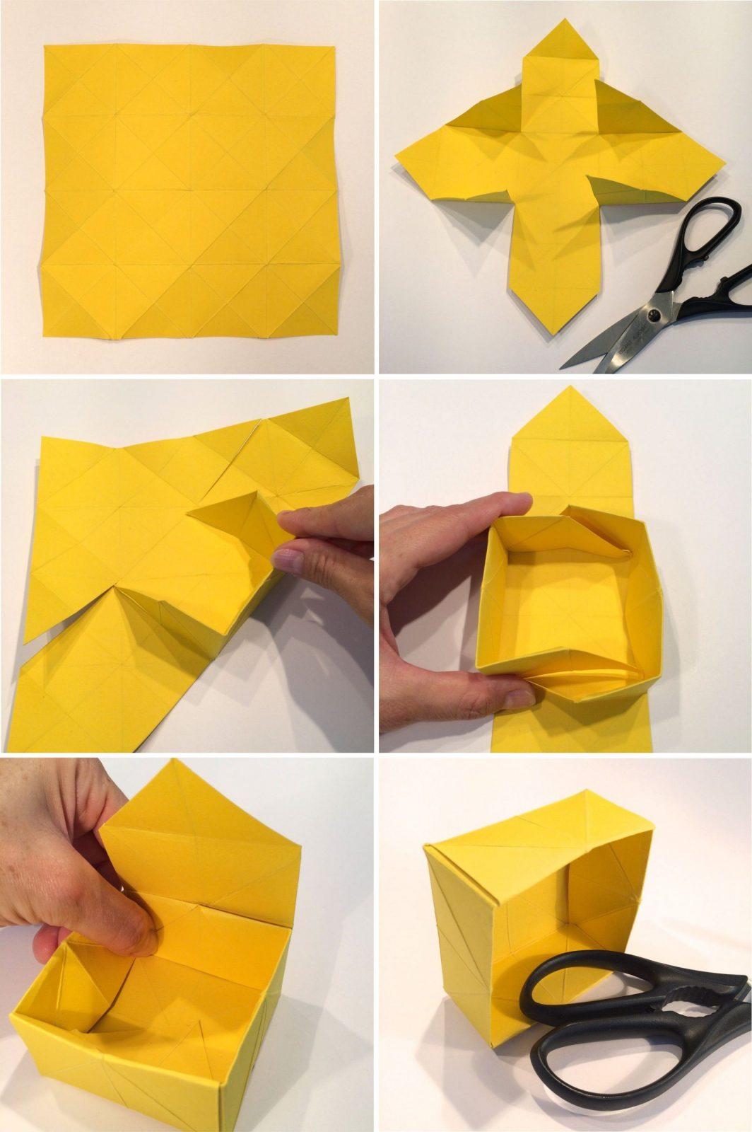 Papier  Box Aus Papier Basteln Archive  Hello Mime  Origami von Kleine Schachteln Selber Basteln Photo