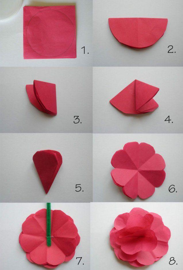 Papierblumen Basteln Mit Kindern  Schöne Ideen Und Bastelanleitungen von Einfache Blumen Falten Anleitung Photo