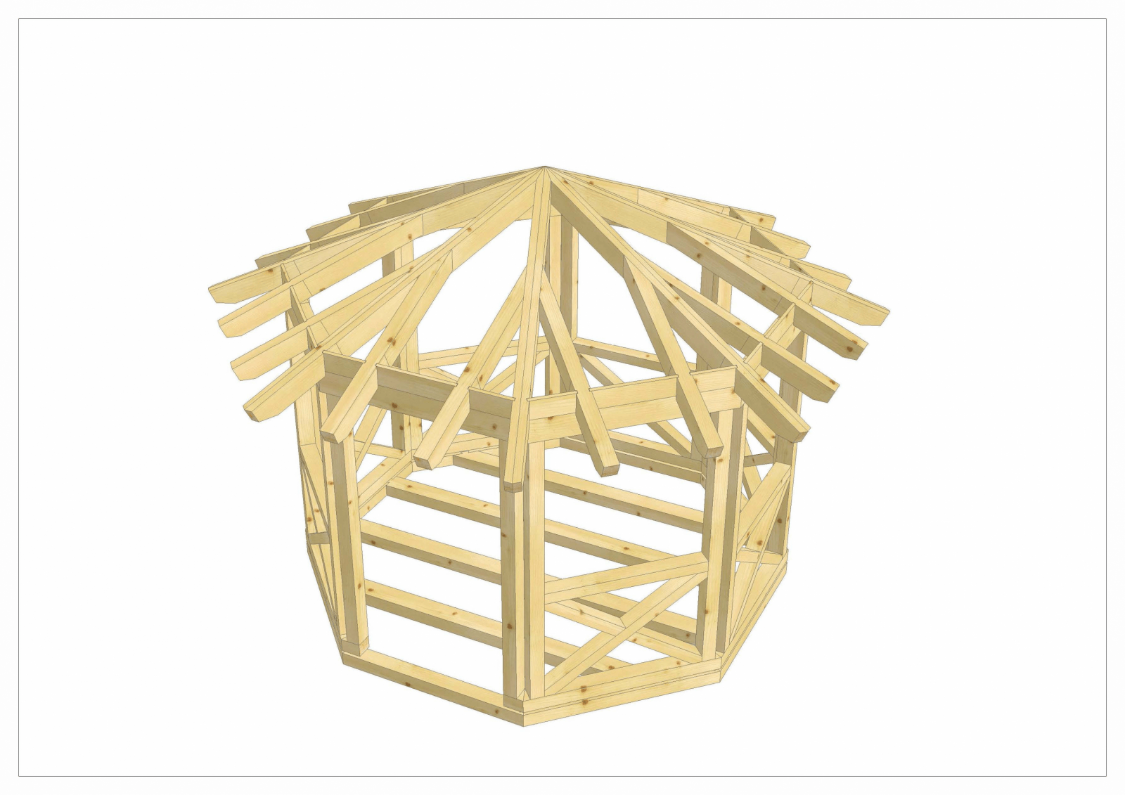 Pavillon 8 Eckig Holz Pt36 – Hitoiro von Pavillon 8 Eckig Holz Bauanleitung Photo