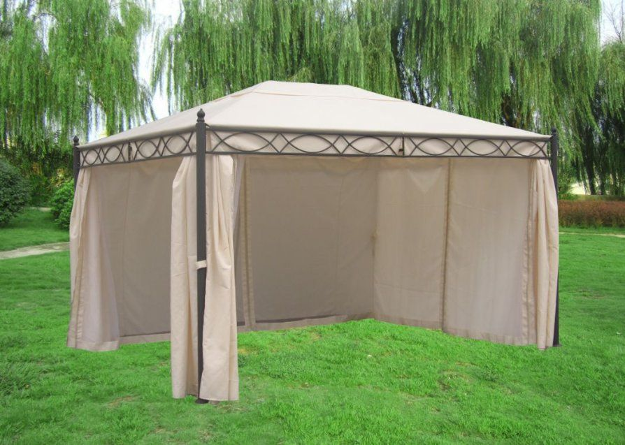 Pavillon Gartenpavillon Metall Gartenpavillion Rivoli 3X4 Dach von Pavillon Dach 3X3M Wasserdicht Ersatzdach Bild