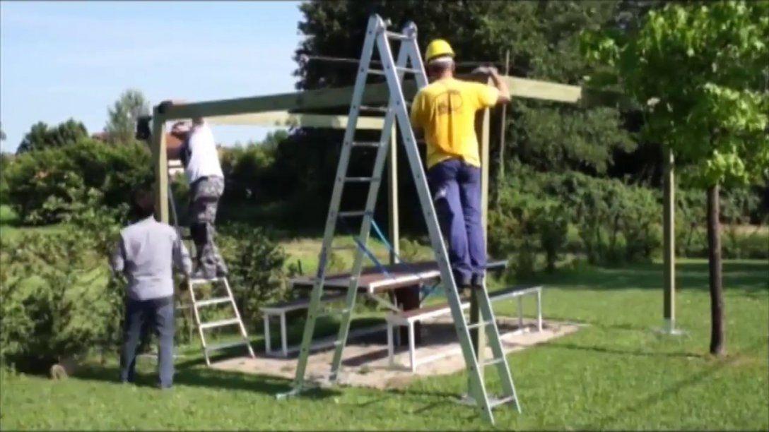 Pavillon Selber Bauen Aus Holz  Terrassenüberdachung Aufbauen  Youtube von Pavillon Holz Selber Bauen Photo