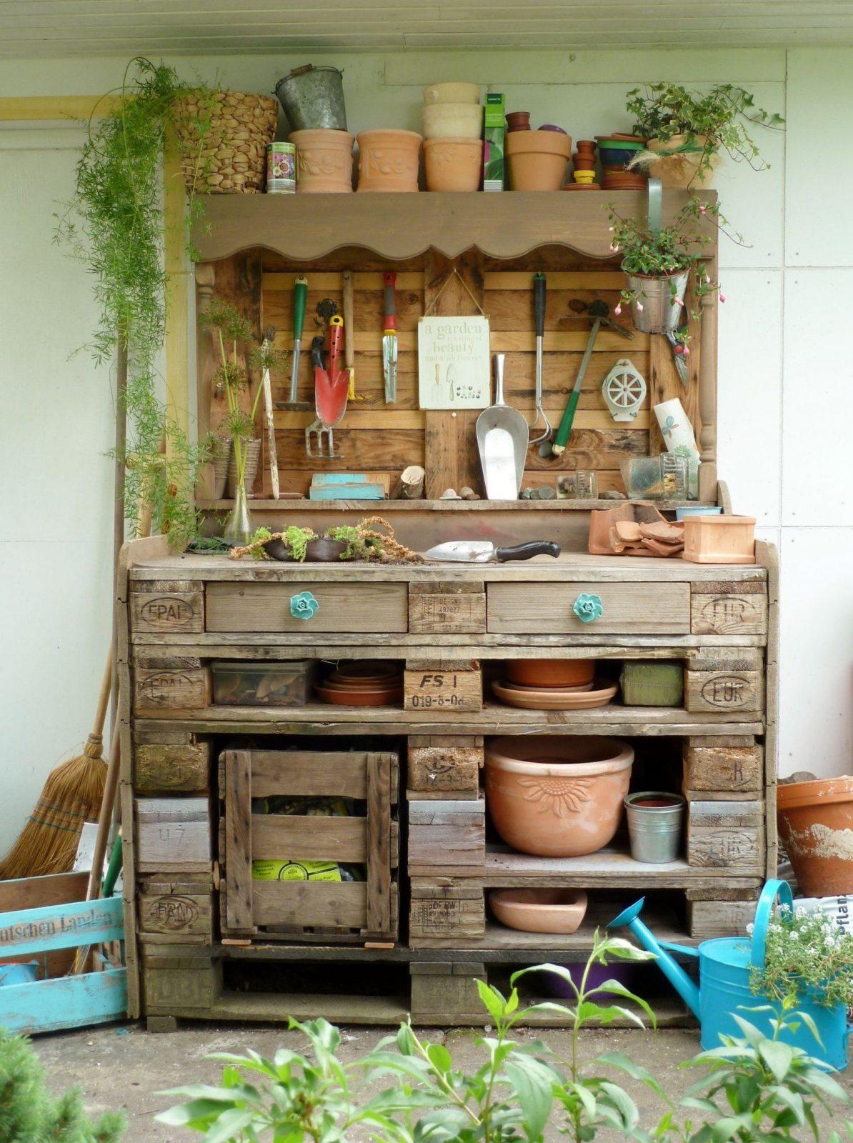Pflanztisch Aus Paletten Diy(Diy Garden Pallet)  How To von Pflanztisch Selber Bauen Paletten Bild