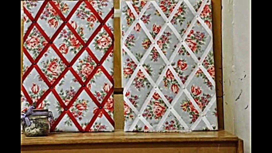 Pinnwand Zum Selbermachen  Einfache Anweisungen Für Die von Pinnwand Mit Stoff Beziehen Bild