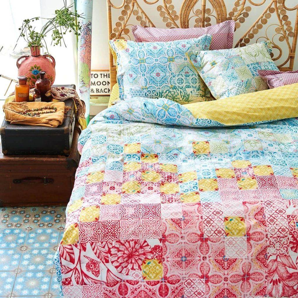 Pip Bettwasche Pip Bettwasche Mixed Up Tiles Milieu Pip Bettwasche von Pip Studio Bettwäsche 155X220 Bild