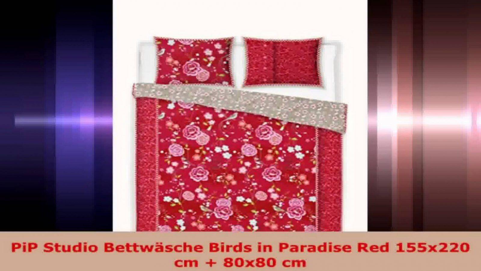 Pip Studio Bettwäsche Birds In Paradise Red 155X220 Cm 80X80 Cm von Pip Studio Bettwäsche 155X220 Photo