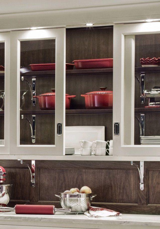 Platzsparende Türsysteme Für Küchenoberschränke  Ein Überblick von Küchen Hängeschrank Mit Schiebetüren Bild