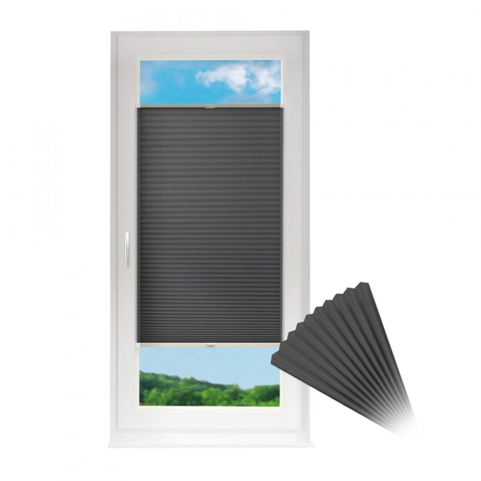 Plissee Für Fenster & Türen Rollojalousie Opt Klemmfixklemmen O von Klemmfix Rollos Für Balkontüren Bild