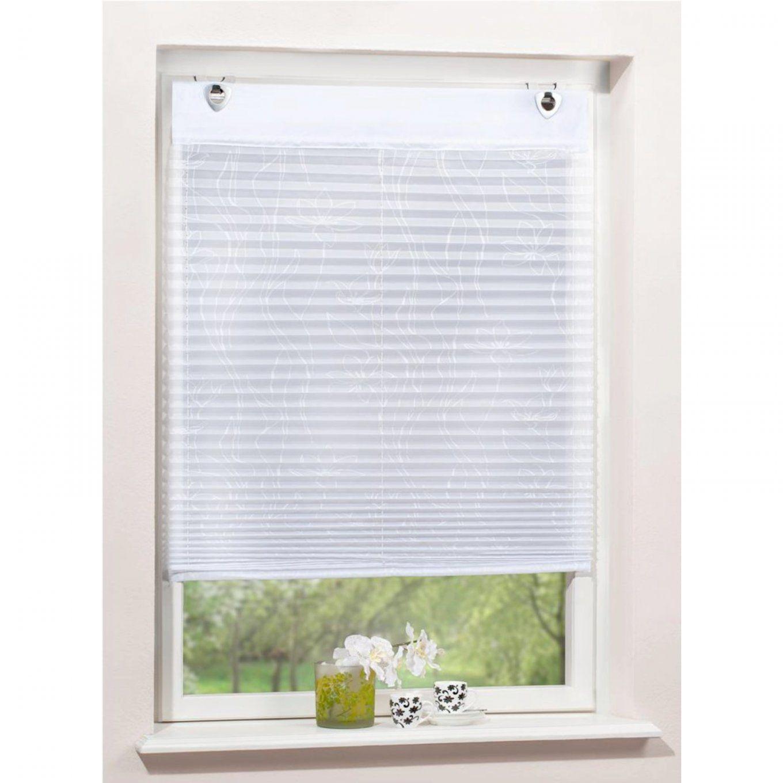 Plisseerollo Mit Ösen Weiß 60 X 140Cm von Rollo Mit Ösen Und Fensterhaken Bild