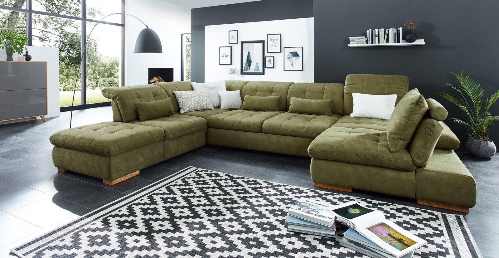 Poco Polstermöbel Houston Sofa In Uform Grün  Möbel Letz  Ihr von Wohnlandschaft U Form Poco Bild