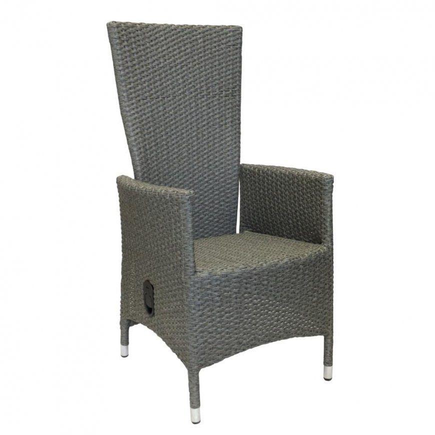 Polyrattan Sessel Lea Graumeliert Stufenlos  Real von Polyrattan Sessel Verstellbarer Rückenlehne Photo