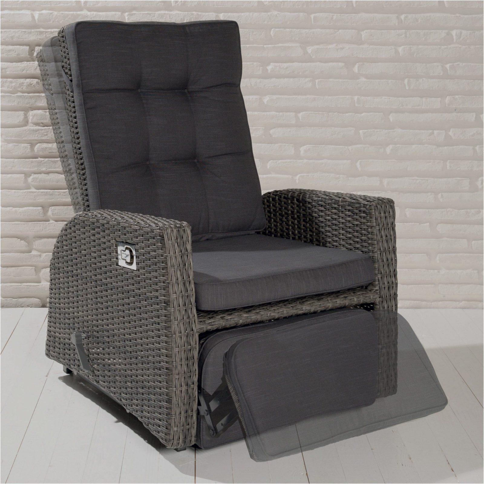Polyrattan Stuhl Grau Das Beste Von Polyrattan Sessel Verstellbarer von Polyrattan Sessel