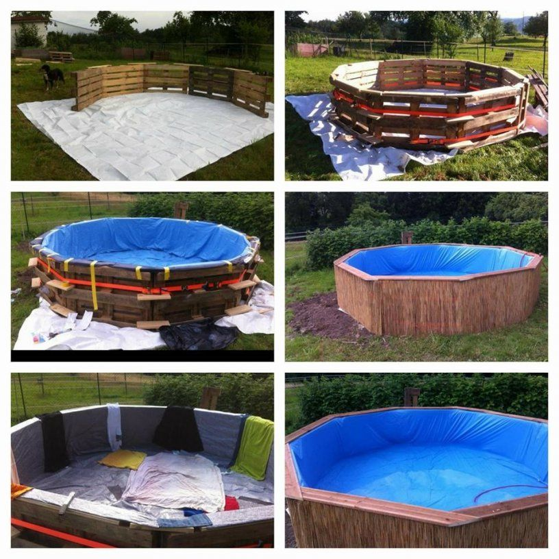 Pool Aus Paletten  Do It Yourself Blog ♥ Selfmadeoverblog von Pool Aus Paletten Bauen Bild