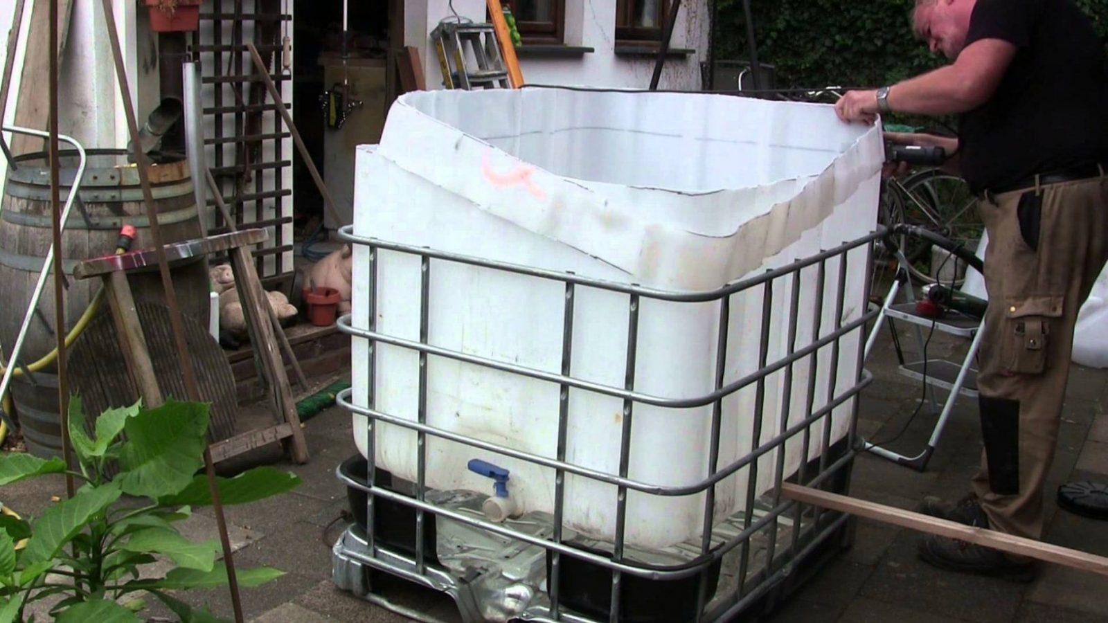 Pool Bau Aus Einem 1000 L Ibc Tank Container  Youtube von Tauchbecken Im Garten Selber Bauen Photo