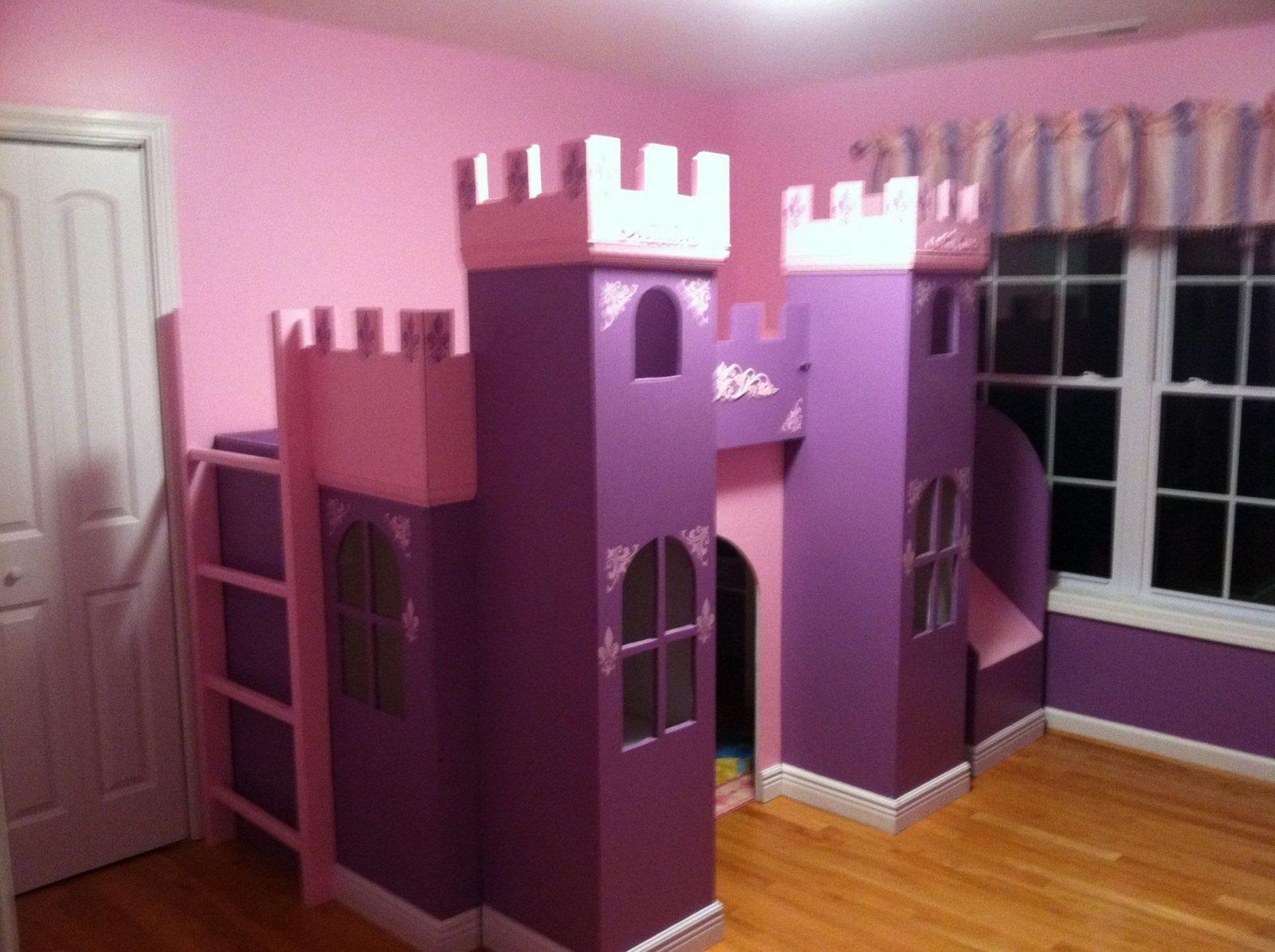 Princess Bed  Castle Bed & Playhouse  Kinderbett Für von Prinzessin Hochbett Selber Bauen Bild