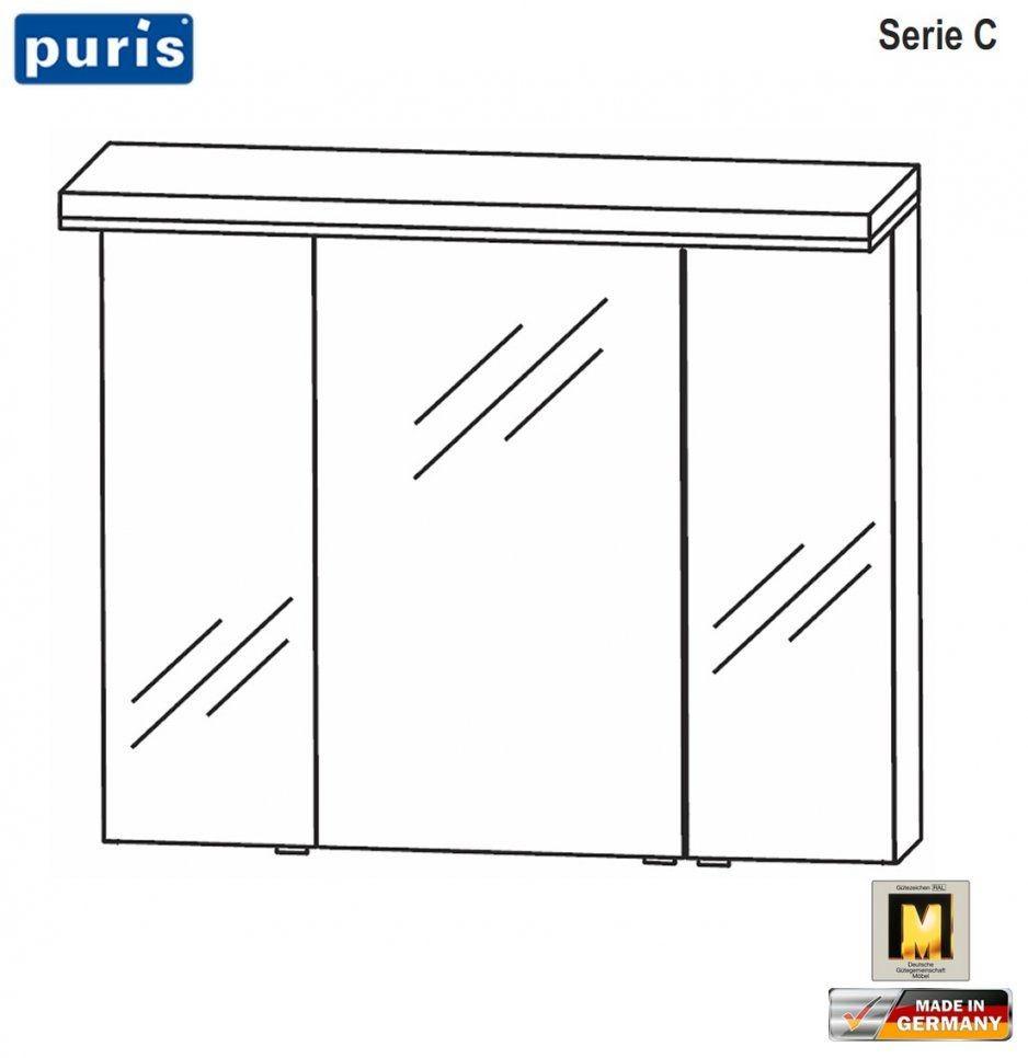 Puris Cool Line Spiegelschrank 90 Cm Mit Led Flächenleuchte von Puris Cool Line 90 Bild