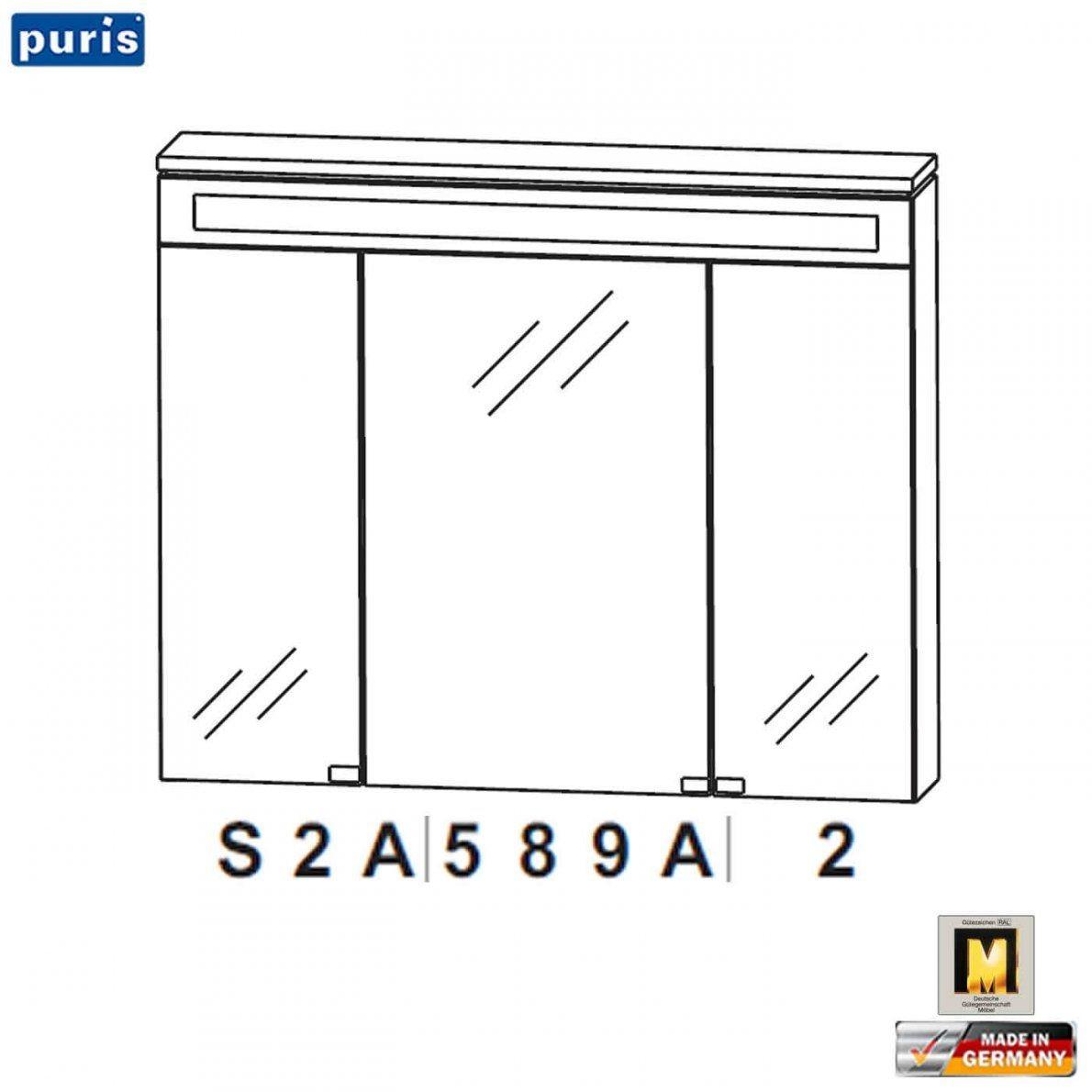Puris Cool Line Spiegelschrank 90 Cm (S2A589A2)  Impuls Home von Puris Cool Line 90 Bild