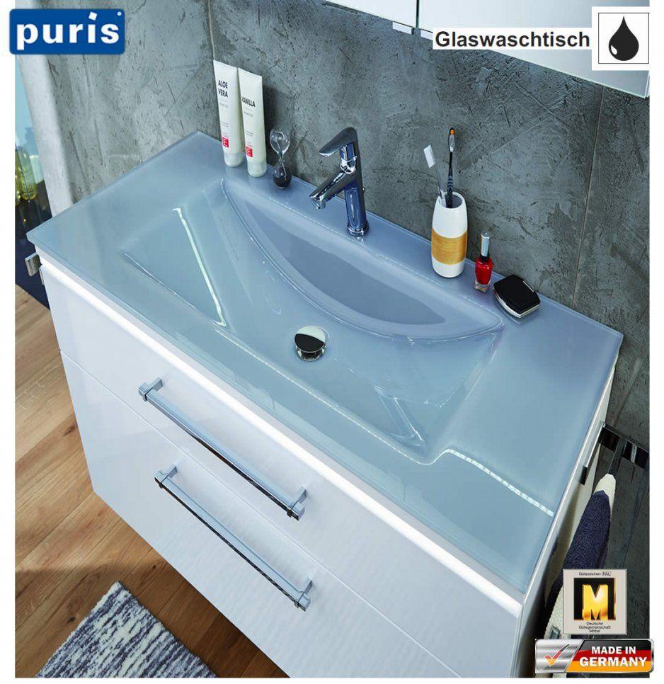 Puris Cool Line Waschtischset 90 Cm  Glas  Led Optional  Impuls Home von Puris Cool Line 90 Photo
