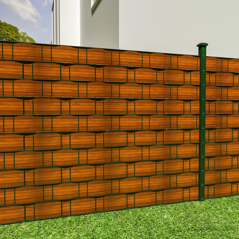 Pvc Sichtschutz Streifen Sichtschutzfolie Doppelstabmatten Zaun 70M von Pvc Sichtschutz Für Doppelstabmatten Bild