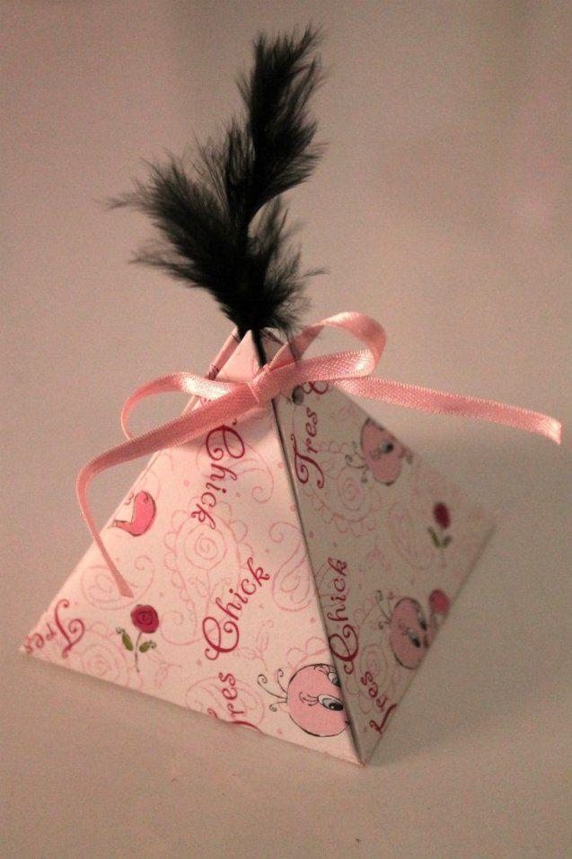 Pyramidenschachtel Basteln Aus Papier  Weihnachten  Pinterest von Kleine Schachteln Selber Basteln Bild