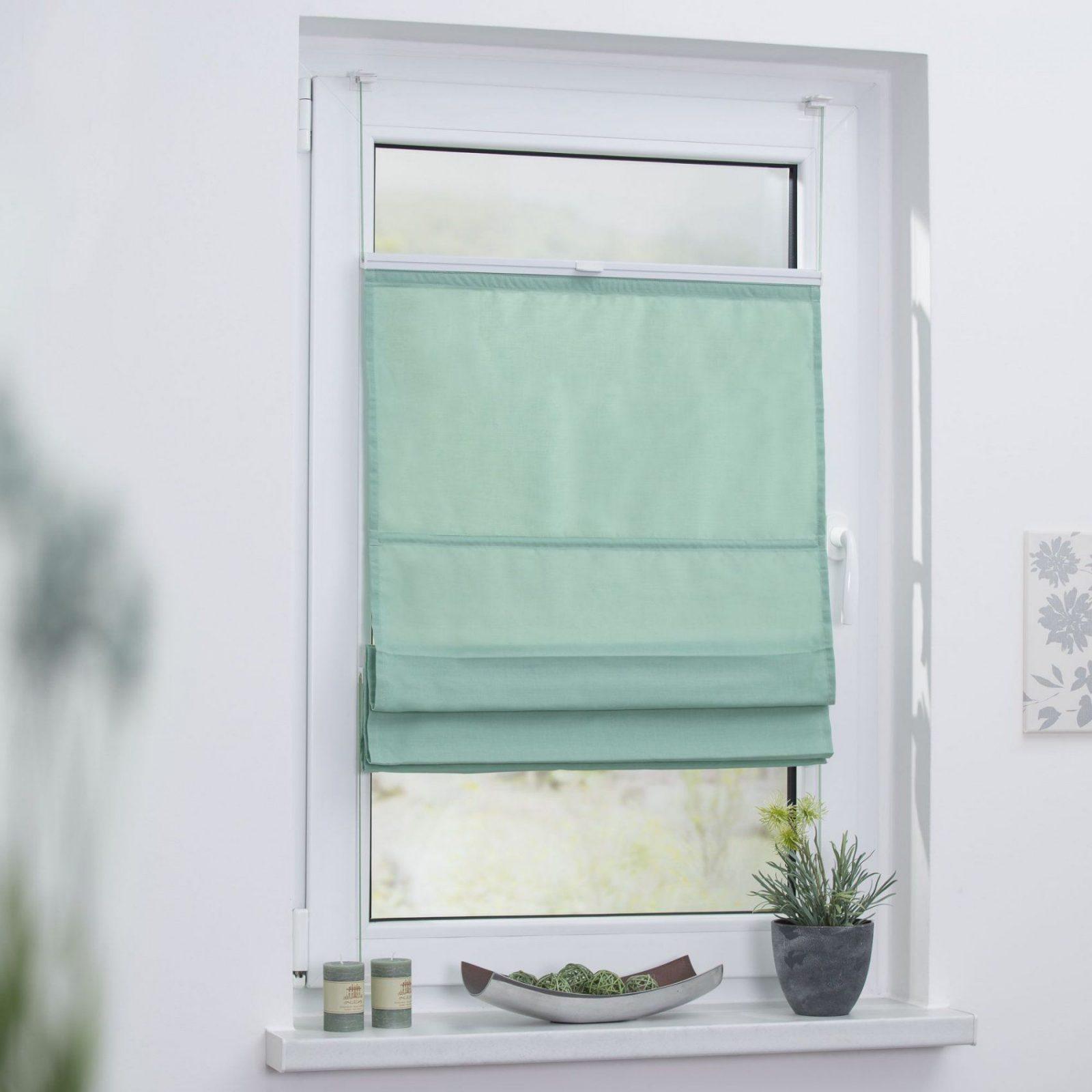 Raffrollo Klemmfix Top Ohne Bohren Verspannt In Pastell von Vorhang Befestigen Ohne Bohren Bild