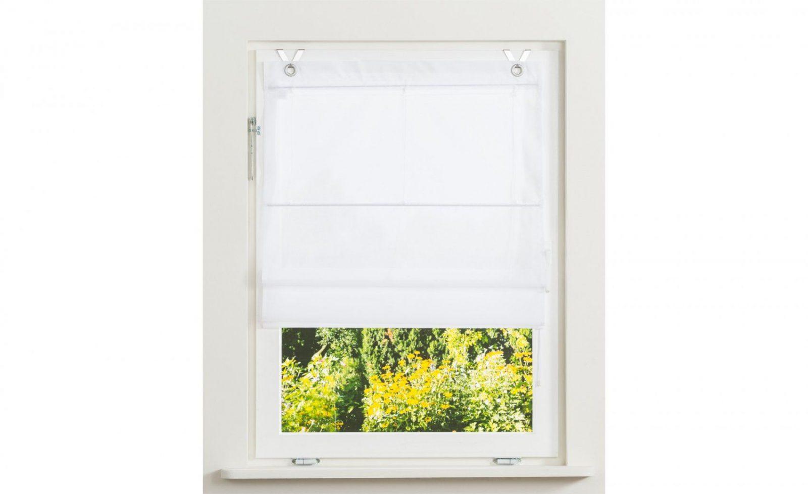 Raffrollo Mit Ösen  80 Cm 140 Cm  Bei Möbel Kraft Online Kaufen von Rollo Mit Ösen Und Fensterhaken Photo