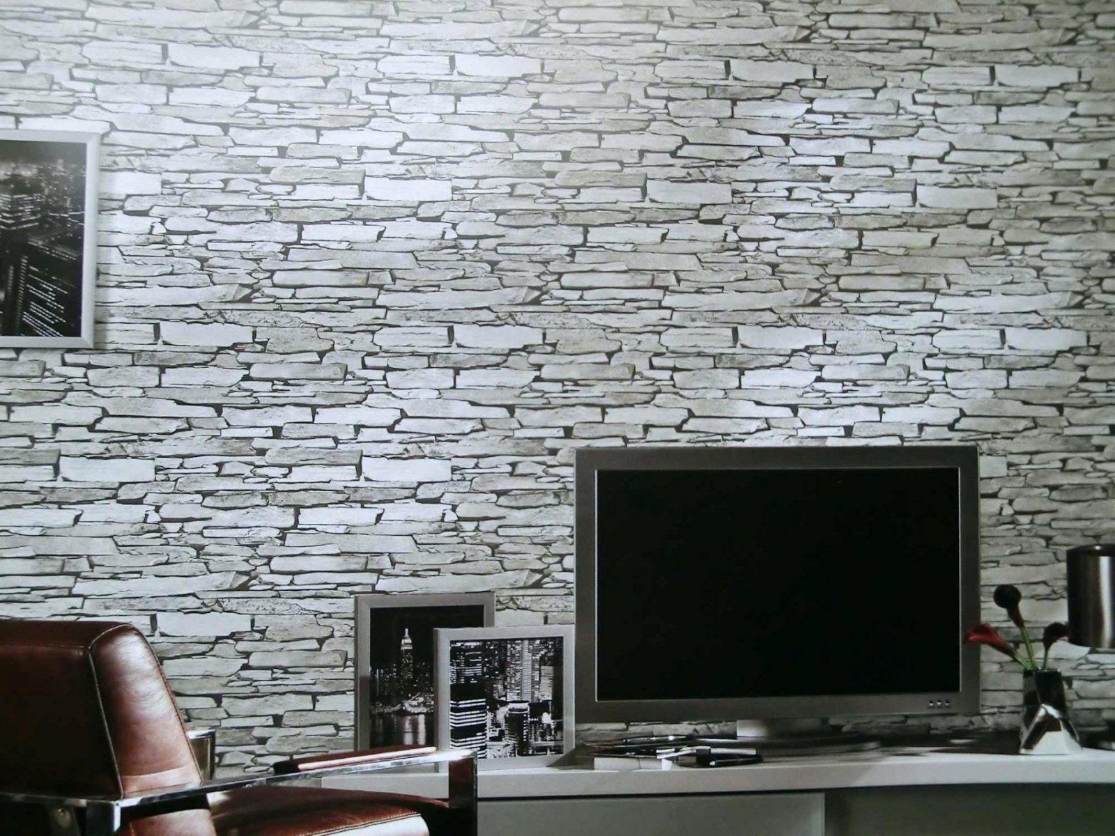 Rasch Steintapete  Sch Nes Wohnzimmer Mit Ebenfalls von Tapete Steinoptik 3D Wohnzimmer Photo