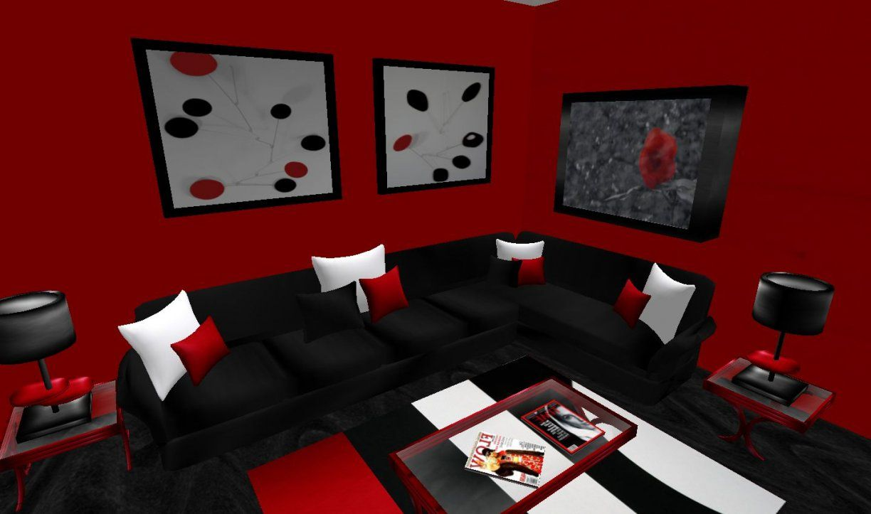 Red And Black Furniture For Living Room Fresh And Red Living Room von Red And Black Furniture Photo