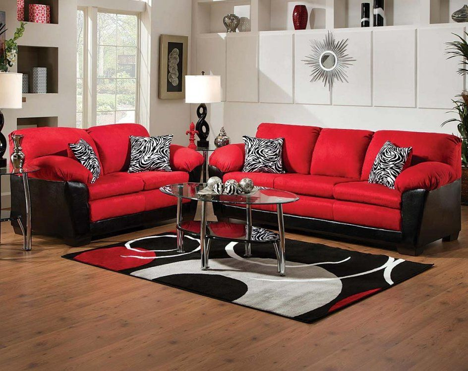 Red And Black Furniture For Living Room Ideas American Living Room von Red And Black Furniture Photo