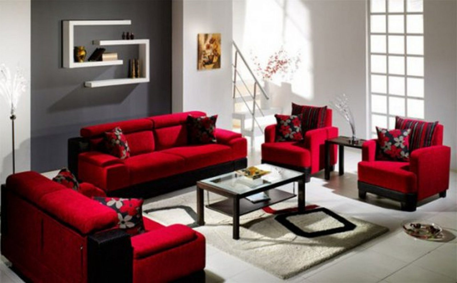 Red White Black Decor Ideas Unforgettable Beautiful And Living Room von Red And Black Furniture Bild