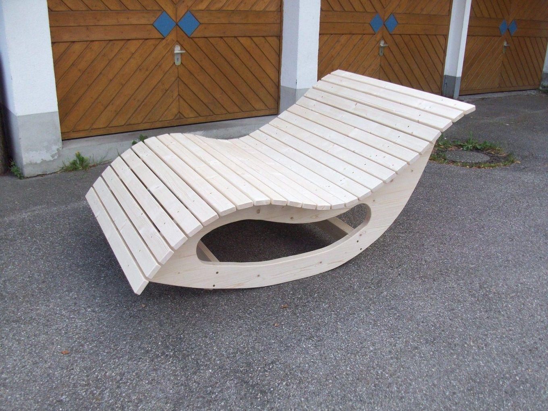 Relaxliege Schaukelliege Holzliege Gartenmöbel Entspannung von Schaukelliege Holz Selber Bauen Bild