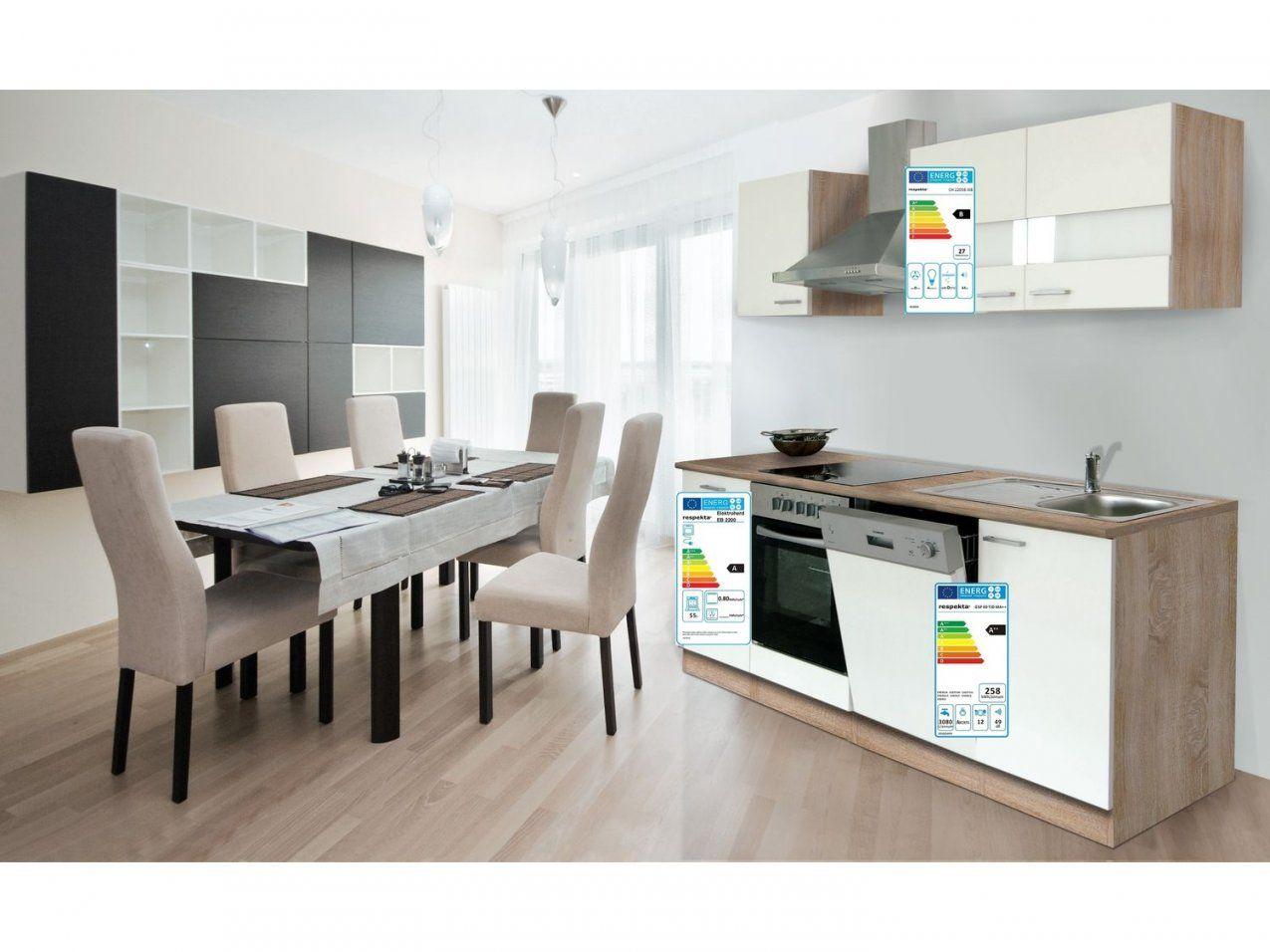 Respekta Küchenzeile Eiche Sonoma Sägerau  In Zwei Farben Und von Küchenzeile Mit Geschirrspüler Ohne Kühlschrank Bild