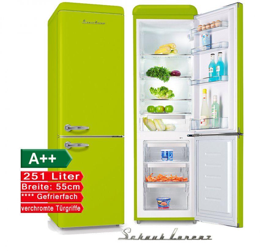 Retro Kühlschrank Lemon Grün 251Liter A++ 55Cm Breit Kühl von Kühlschrank 55 Cm Breit Bild