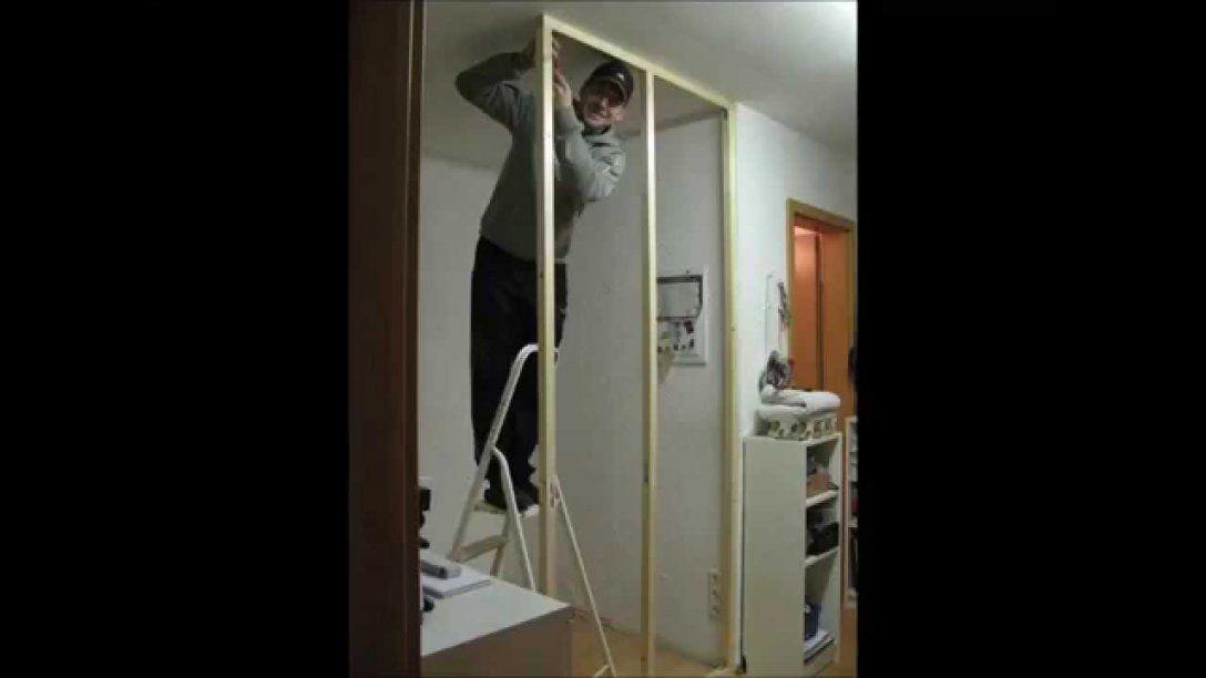 Rigips Trennwandwandsichtschutz Einfach Und Schnell Selber Bauen von Raumteiler Wand Selber Bauen Photo