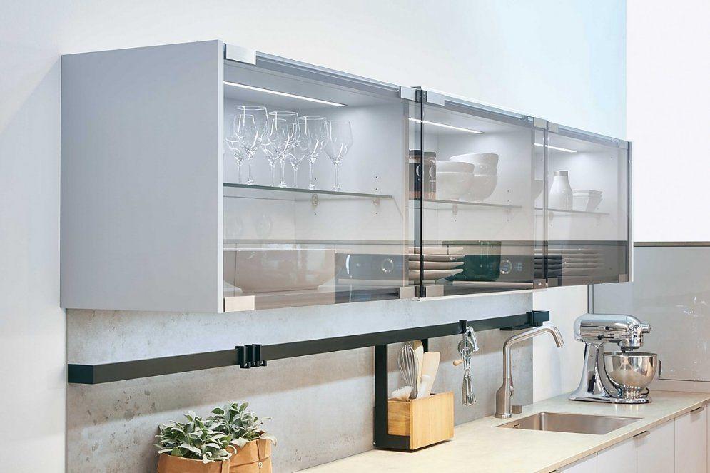Riva Lichtgrau von Küchen Hängeschrank Mit Schiebetüren Bild